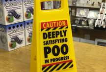 Novelty Yellow Caution Signs / https://www.a-choice-of-gifts.co.uk/giftshop/cat_1412877-Funny-Yellow-Desk-Warning-Signs.html