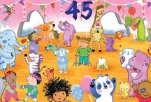 CHILD'S PLAY IS 45! / It's our birthday! 45 years publishing award-winning, innovative, diverse, beautiful, fun, informative children's books since 1972. HQ has been sharing some of their favourite Child's Play book spreads to celebrate!