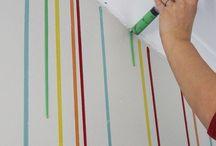 pinturas e papel de parede