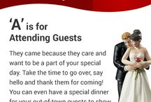 A-Z Wedding Guide / It has important points that you should remember when you #plan your #wedding