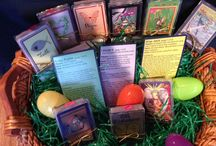 Easter is coming! / Perfect, inexpensive gift to tuck in the Easter Basket!  Great gift for most any occasion!  Get a free card game direction card with each purchase! Just $10 per deck--free shipping within the continental United States! Each deck comes in a nice plastic case with an elastic gold band!