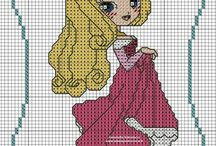 cross stitch principesse