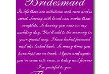 bridesmaids thank you cards