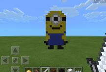 Minecraft / This board is about all of the things that I have made on mineraft called pixel art