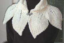 Crochet and knit shawls, shrugs, hats