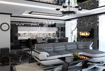 Дизайн интерьера квартиры в стиле модерн / Пожелания заказчика: создать дизайн интерьера квартиры в стиле модерн для современной молодой пары с ребенком, воплотив в зеркальных фасадах и нарядном блеске хрусталя, созвучный заказчикам, комфорт.