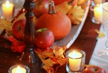 Holiday - Thanksgiving / Thanksgiving meal ideas, recipes. Fall house decoration ideas (centerpieces, candles, flower arrangements, ect)