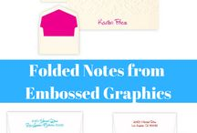 Embossed Graphics Personalized Notes and Notepaper / Personalized notes and notepaper from Embossed Graphics