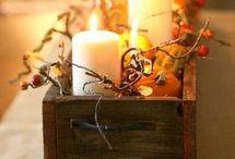 Fall decor, food & drinks
