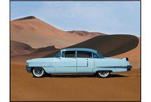 "Cadillacs / 1959er Cadillac COUPE DE VILLE, 1956er Cadillac FLEETWOOD SIXTY - SPECIAL, 1958er Cadillac SEDAN DE VILLE ist ein Viertürer. ""De Ville"""