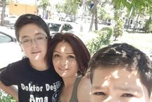 oğulcuklarım ve ben :)