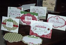 Stampin Up - Snow Festival Tags