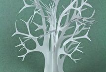 albero di carta