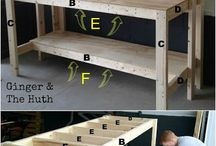 DIY Garage shelving idea