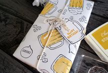 Wrapping papers(using Stampin up) Made by Jerim Dickins -WillowPiggy
