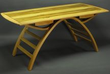 Darren Oates / Darren is located in the Hawkesbury , NSW and has been working with timber for twenty years. His furniture is unique, usually having some curved laminated form involved in the design.