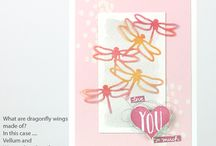 Detailed Dragonfly Thinlits / Projects created by Cheryll using the Detailed Dragonfly thinlits by Stampin' Up!®  See more detail on any of the projects by visiting the web site www.senseofwhimsy.com.au.