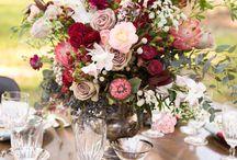 Marsala Inspired Wedding / #Marsala #Wedding