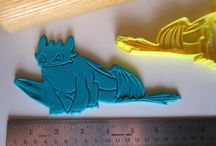 How to Train your Dragon Cookie Cutters / 3d printed cookie cutters