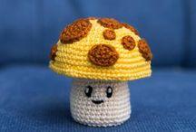 crochet mushrooms