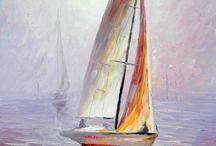 barcos e mar