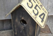 License plate birdhouse / by April Thompson