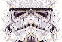Star Wars / Divers création sur le thème de star wars d'artistes Vinochromie