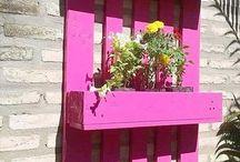 παλέτες για λουλουδια