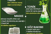 yeşil çay dan cilt ürünleri ve tonik