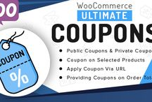 Woocommerce Ultimate Coupons / WooCommerce Ultimate Coupons will help to turn every visitor into the potential customer. When customers first enter your store, a beautiful and responsive Popup will show up to offer them a discount for following one of your social profiles.