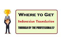 Indonesian Translation Resources