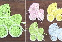 Crochet baby stroller