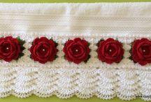 toalha de rosto em croche