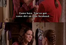Gilmore Girls. / Lorlai, Rory, Luke osv