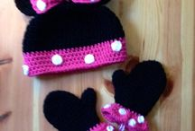 minnie mousse hat and mitten set crochet hat by;;;;;; etsy