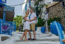 'Love story' session in Santorini