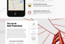 Web Design - Creative Inspiration / Collection of creative templates and UX Design from the web