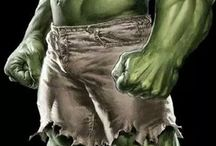 The Hulk / The Hulk is a fictional superhero (man and woman , Dr. Bruce Banner and his cousin )