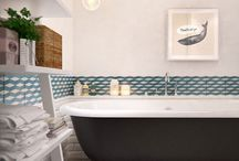 Entry and bathroom tiles
