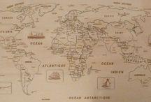 Puzzle géographique artisanal Carte du Monde