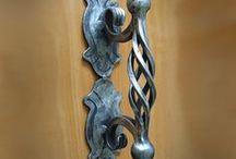 kované kľučky na brany