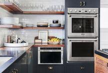 Backsplash + Floating Shelves + Workstation / Backsplash + Floating Shelves + Kitchen Workstation Project