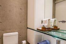 Banheiro cimento queimado / O cimento queimado é responsável por deixar os cômodos com um ar rústico, estiloso e elegante, confira belíssimas inspirações!