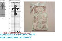 Filet crochet Communion favors free patterns / Filet crochet Communion favors free patterns