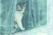 Lyn Estall Cat Art
