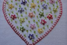 Hearts / Embroidery