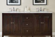 lavabos con mueble de madera