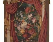 Bouquet Theatral French impressionist jacquard woven tapestry