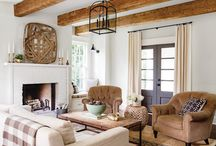 // farmhouse living room // / by mStarr design / e m i l y