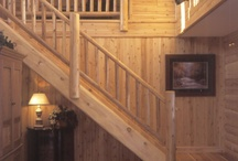 Interiors of Log Homes from Town & Country Homes / The interiors of luxury log homes and log cabins from Town & Country Cedar Products. Want to connect? Say hello on http://twitter.com/micedarproducts